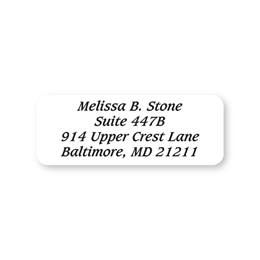 Clear Rectangle Sheeted Address Labels