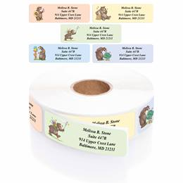 Bears Designer Rolled Address Label Assortment