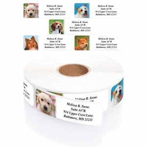 Photo Puppies Designer Rolled Address Label Assortment