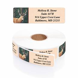 Deer Designer Rolled Address Labels