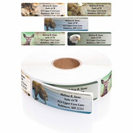 Wildlife Designer Rolled Address Label Assortment