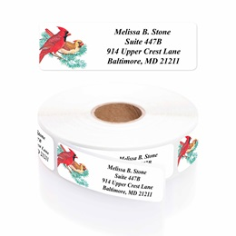 Cardinal Designer Rolled Address Labels