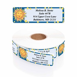 Celestial Designer Rolled Address Labels