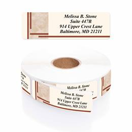 Tan Marble Designer Rolled Address Labels