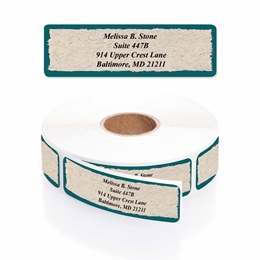 Natural Designer Rolled Address Labels