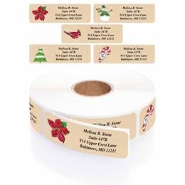 Krafty Christmas Designer Rolled Address Label Assortment