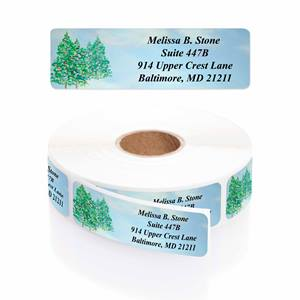 Winter Trees Designer Rolled Address Labels