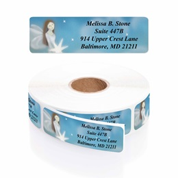 Peace Angel Designer Rolled Address Labels