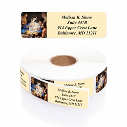 Away In A Manger Designer Rolled Address Labels