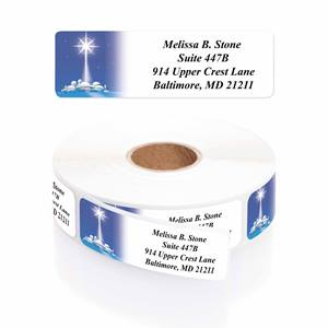 Star Of Wonder Designer Rolled Address Labels