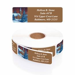 Evening Chapel Designer Rolled Address Labels