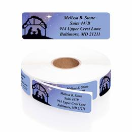 Christs Creche Designer Rolled Address Labels