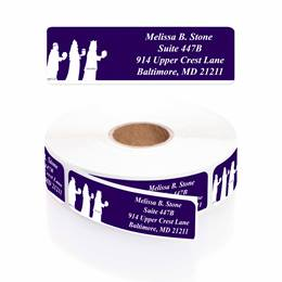 Journey Toward Peace Designer Rolled Address Labels