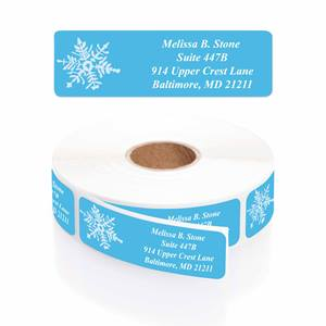 Crystal Noel Designer Rolled Address Labels