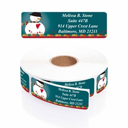 Country Snowman Designer Rolled Address Labels