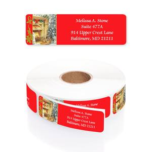 Holiday Hearth Designer Rolled Address Labels