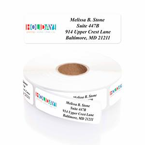 Best Of The Holidays Designer Rolled Address Labels
