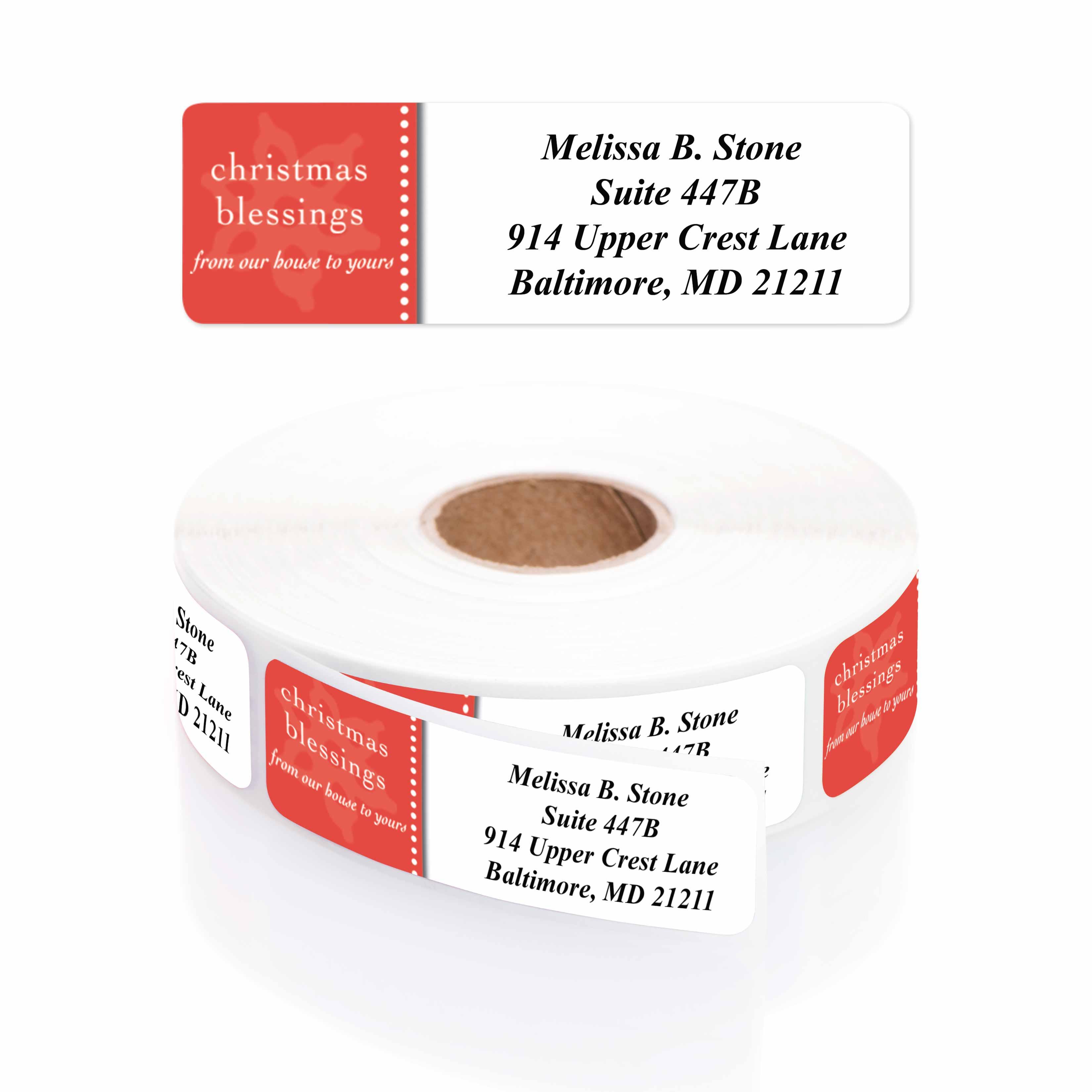 modern blessings designer address labels rolled address labels