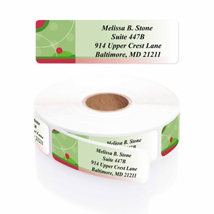 Holiday Dots Designer Rolled Address Labels