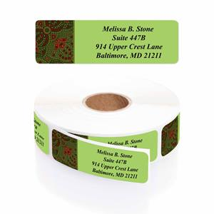 Festive Blessing Designer Rolled Address Labels