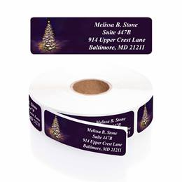 Let It Glow Designer Rolled Address Labels