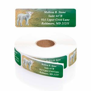 A True Miracle Designer Rolled Address Labels