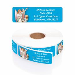 Appearing Angel Designer Rolled Address Labels