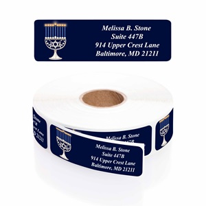 Serene Wishes Designer Rolled Address Labels