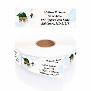 Christmas In The Country Designer Rolled Address Labels