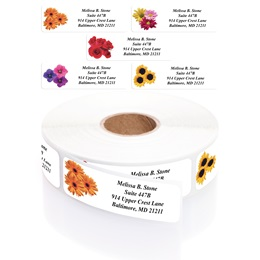 Floral Designer Rolled Address Label Assortment