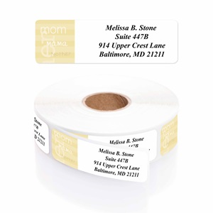 Mom Mama Mother Designer Rolled Address Labels