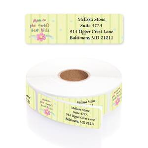 Best In The World Designer Rolled Address Labels