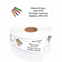 Kreative Kids Designer Rolled Address Labels