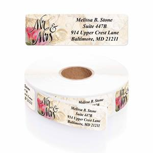 Mr And Mrs Designer Rolled Address Labels