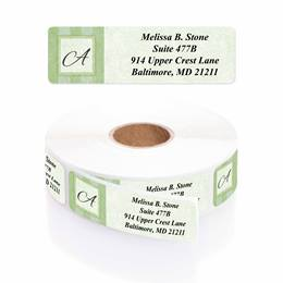 Tailored Elegance Designer Rolled Address Labels With Dispenser