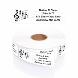 Music Designer Rolled Address Labels