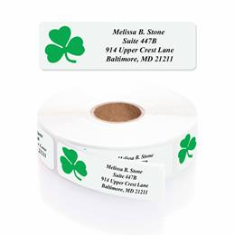 Shamrock Designer Rolled Address Labels