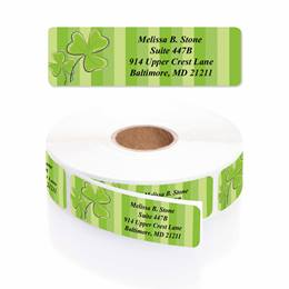 Shamrock Stripes Designer Rolled Address Labels