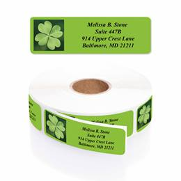 Lots Of Luck Designer Rolled Address Labels