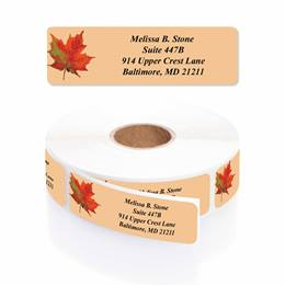 Vibrant Foliage Designer Rolled Address Labels