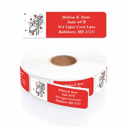 Love Letters Designer Rolled Address Labels