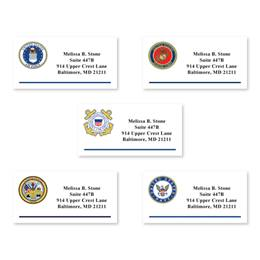 Military Emblem Sheeted Address Labels