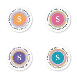 Color Sandwich Round Sheeted Address Labels
