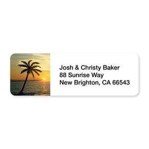 Tropical Sunset Sheeted Address Labels