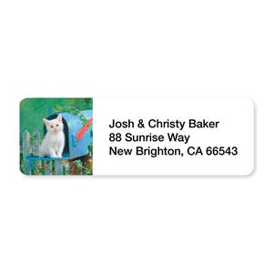 Mailbox Kitty Sheeted Address Labels