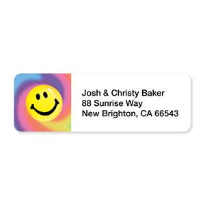 Tie Dye Smile Sheeted Address Labels