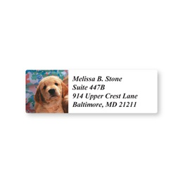 Puppy Sheeted Address Labels
