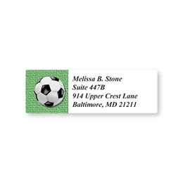 Soccer Ball Sheeted Address Labels