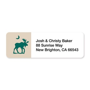 Moose Sheeted Address Labels
