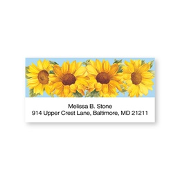 Sunflower Sheeted Address Labels
